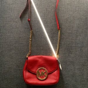 Authentic crossbody red MK purse